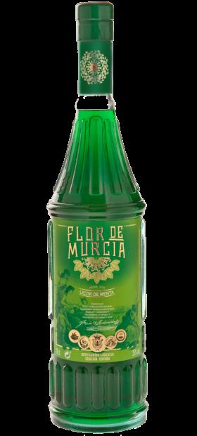Botella de licor de menta de la Flor de Murcia